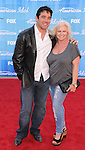 LOS ANGELES, CA - MAY 23: Dean Cain and mother arrives at 'American Idol' Season 11 Grand Finale Show at Nokia Theatre L.A. Live on May 23, 2012 in Los Angeles, California.