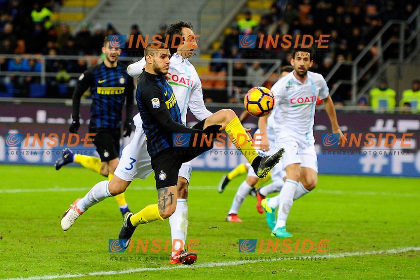 Gol di Mauro Icardi Inter 1-1. Celebration goal<br /> Milano 14-01-2017 Stadio Giuseppe Meazza - Football Calcio Serie A Inter - Chievo Verona. Foto Giuseppe Celeste / Insidefoto