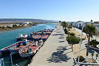 SPAIN, Andalusia, Barbate, fishing boats for Tuna fishing Almadraba