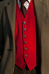 Fox hunting red waistcoat and with fox head buttons. Cumbria UK