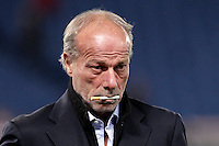 Calcio, Serie A: Roma vs Udinese. Roma, stadio Olimpico, 28 ottobre 2012..AS Roma sporting director Walter Sabatini looks on prior to the start of the Italian Serie A football match between AS Roma and Udinese, at Rome, Olympic stadium, 28 October 2012..UPDATE IMAGES PRESS/Riccardo De Luca