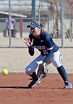 March 7, 2012:   Nevada Wolf Pack shortstop Karley Hopkins fields the ball against the Sacramento State Hornets during their NCAA softball game played at Christina M. Hixson Softball Park on Wednesday in Reno, Nevada.