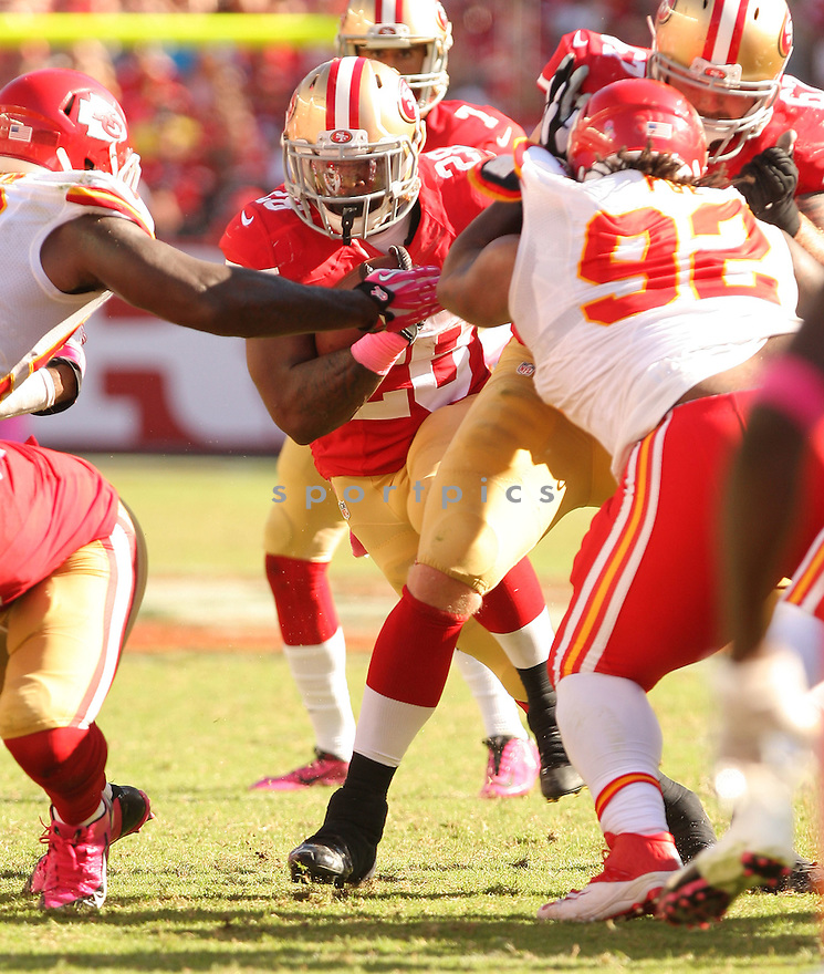 San Francisco 49ers Carlos Hyde (28) during a game against the Kansas City Chiefs on October 5, 2014 at Levi's Stadium in Santa Clara, CA. the 49ers beat the Chiefs 22-17.