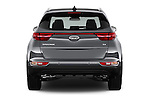 Straight rear view of 2017 KIA Sportage 2.4-EX-AT-AWD 5 Door SUV Rear View  stock images
