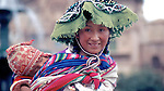 Quechua mother with child, Cuzco, Peru