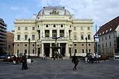 Bratislava, Slovakia; National Theatre in Hviezdoslav Square.