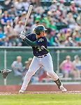 12 July 2015: Vermont Lake Monsters catcher Seong-min Kim in action against the West Virginia Black Bears at Centennial Field in Burlington, Vermont. The Lake Monsters came back from a 4-0 deficit to defeat the Black Bears 5-4 in NY Penn League action. Mandatory Credit: Ed Wolfstein Photo *** RAW Image File Available ****
