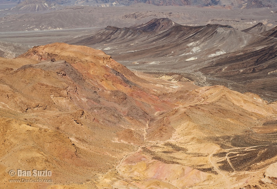 View of Death Valley National Park, California, from the Greenwater Range at the eastern edge of the park