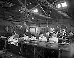 Finishing room at the New England Watch Company, Waterbury, 1905