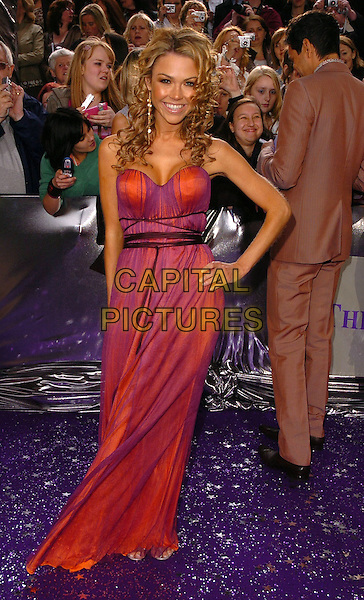 ADELE SILVA.The Brtish Soap Awards - Arrivals,.BBC Television centre, London, .London, England, May 20th 2006..full length purple and pink dress strapless hand on hip.Ref: CAN.www.capitalpictures.com.sales@capitalpictures.com.©Can Nguyen/Capital Pictures