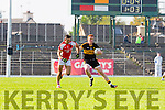 Aidan O'Mahony Rathmore and Johnny BuckleyDr Crokes in action during their County Championship Q/F in Fitzgerald Stadium on Sunday