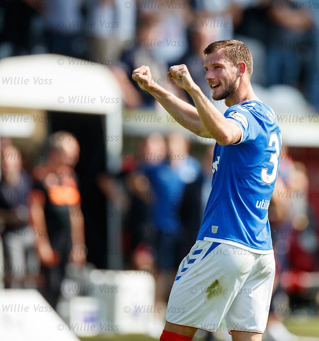 25.08.2019 St Mirren v Rangers: Borna Barisic at full time
