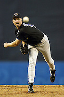 Randy Johnson In a  MLB game played at Dodger Stadium where the Diamondbacks beat the Dodgers 6-3