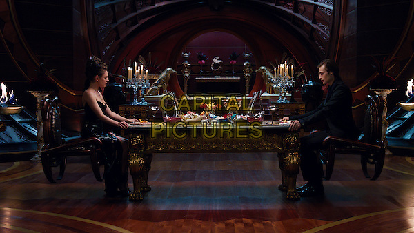 Mila Kunis, Douglas Booth<br /> in Jupiter Ascending (2015) <br /> *Filmstill - Editorial Use Only*<br /> CAP/NFS<br /> Image supplied by Capital Pictures