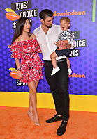 Michael Phelps, Nicole Johnson &amp; Boomer Phelps at the Nickelodeon Kids' Choice Sports Awards 2018 at Barker Hangar, Santa Monica, USA 19 July 2018<br /> Picture: Paul Smith/Featureflash/SilverHub 0208 004 5359 sales@silverhubmedia.com