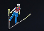 Artti Aigro (EST). Mens normal hill individual. Qualification. Ski jumping. Alpensia ski jump centre. Pyeongchang2018 winter Olympics. Alpensia. Pyeongchang. Republic of Korea. 08/02/2018. ~ MANDATORY CREDIT Garry Bowden/SIPPA - NO UNAUTHORISED USE - +44 7837 394578