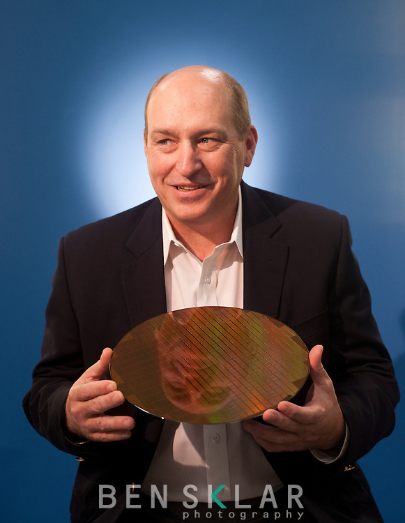 "Burton ""Buddy"" Nicoson, Samsung Vice President of Fabrication Engineering, at a chip manufacturing campus in Austin, Texas on April 11, 2011. ."