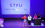 Students from William Cullen Bryant High School perform 'Henry's Law' at the Fourth Annual High School Theatre Festival at The Shubert Theatre on March 19, 2018 in New York City.