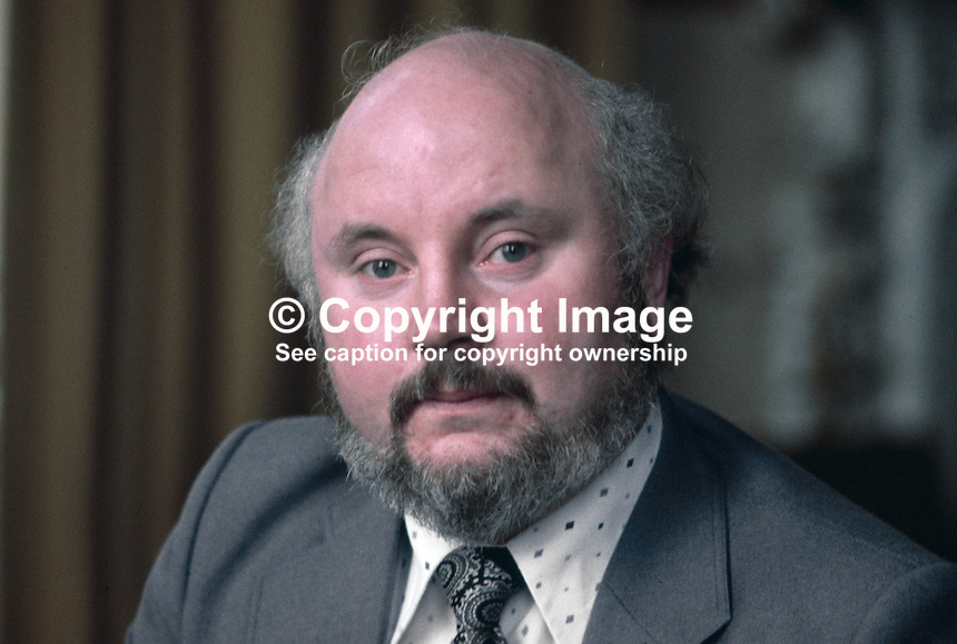 Paddy O'Hanlon, prominent member, SDLP, Social Democratic &amp; Labour Party, N Ireland, UK, 197811000290a.<br /> <br /> Copyright Image from Victor Patterson,<br /> 54 Dorchester Park, Belfast, UK, BT9 6RJ<br /> <br /> t1: +44 28 90661296<br /> t2: +44 28 90022446<br /> m: +44 7802 353836<br /> <br /> e1: victorpatterson@me.com<br /> e2: victorpatterson@gmail.com<br /> <br /> For my Terms and Conditions of Use go to<br /> www.victorpatterson.com