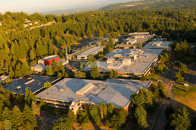 Aerial View of Portland Community College- Sylvania Campus, Portland, Oregon