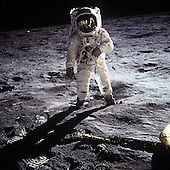 "The Moon - (FILE) -- Astronaut Buzz Aldrin, lunar module pilot, walks on the surface of the Moon near the leg of the Lunar Module (LM) ""Eagle"" during the Apollo 11 exravehicular activity (EVA) on Sunday, July 20, 1969. Astronaut Neil A. Armstrong, commander, took this photograph with a 70mm lunar surface camera. While astronauts Armstrong and Aldrin descended in the Lunar Module (LM) ""Eagle"" to explore the Sea of Tranquility region of the Moon, astronaut Michael Collins, command module pilot, remained with the Command and Service Modules (CSM) ""Columbia"" in lunar orbit..Credit: NASA via CNP"