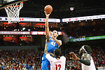 Forward Trey Lyles of the Kentucky Wildcats shoots during the game against  the Louisville Cardinals at KFC Yum! Center on Saturday, December 27, 2014 in Louisville `, Ky. Kentucky leads Louisville 22-18 at halftime. Photo by Michael Reaves | Staff