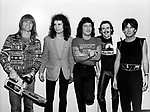 Rod Evans Deep Purple 1980. Original singer Rod Evans on right put together this 'Deep Purple' to tour while the real band was disbanded.