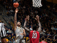 Richard Solomon of California shoots the ball during the game against Fresno State at Haas Pavilion in Berkeley, California on December 14th, 2013.  California defeated Fresno State, 67-56.