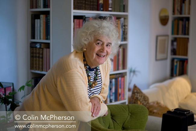 British writer and historian Jan Morris, pictured at her home near the village of Llanystumdwy in Gwynedd, north Wales. Jan Morris has had a long and distinguished career as a journalist and writer and published more than 30 books.
