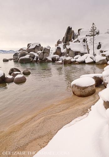 Lake Tahoe in Winter, Nevada
