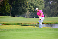 Jon Rahm (ESP) nearly chips in on 6 during round 3 of the World Golf Championships, Mexico, Club De Golf Chapultepec, Mexico City, Mexico. 3/4/2017.<br /> Picture: Golffile | Ken Murray<br /> <br /> <br /> All photo usage must carry mandatory copyright credit (&copy; Golffile | Ken Murray)
