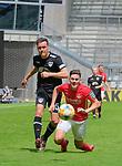 Fussball - 3.Bundesliga - Saison 2019/20<br /> Kaiserslautern -  Fritz-Walter-Stadion 20.6.2020<br /> 1. FC Kaiserslautern (fck) - KFC Uerdingen (uer)<br /> Alexander BITTROFF (KFC Uerdingen) foult Dominik SCHAD (1. FC Kaiserslautern)<br /> <br /> Foto © PIX-Sportfotos *** Foto ist honorarpflichtig! *** Auf Anfrage in hoeherer Qualitaet/Aufloesung. Belegexemplar erbeten. Veroeffentlichung ausschliesslich fuer journalistisch-publizistische Zwecke. For editorial use only. DFL regulations prohibit any use of photographs as image sequences and/or quasi-video.