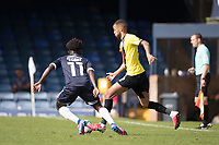 Warren Burrell, Harrogate Town,  lays the ball across field during Southend United vs Harrogate Town, Sky Bet EFL League 2 Football at Roots Hall on 12th September 2020