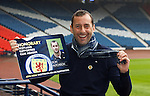 Don Hutchison at Hampden to get his honorary Scotland Supporters Club membership