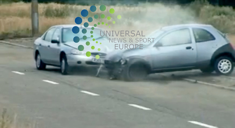 """A shocking video made for pupils in an attempt to stop car crashes caused by the driver texting while driving has become an """"internet sensation"""" in the US with more than 1 million hits. As they return to school Americans are turning to the British video to keep their children safe.  It could also be aired on American TV. The short film, starring young actors from south Wales, shows a teenage girl killing four people after she uses her mobile phone to send a text.  Gwent Police said it hoped the graphic video would be shown in schools around Wales and hopefully the rest of the UK.  Research has shown texting while driving slows reaction time by 35%. The film by Peter Watkins-Hughes has also been posted on video sharing website You Tube. It shows in slow motion a crash caused after a girl, called Cassie, briefly loses concentration of the road while looking at her mobile. It also includes footage of all the emergency services attending the crash scene, including the air ambulance and firefighters. .Picture:  25 August 2009: Universal News and Sport (Scotland).All pictures must be credited to  www.universalnewsandsport.com.(0ffice) 0844 884 51 22.."""