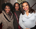 Adriane Lenox, La Tanya Hall & Carmen Ruby Floyd backstage at Encores! 'Cotton Club Parade' at City Center in New York City on 11/17/2012
