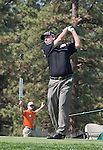 August 3, 2012: Craig Barlow from Henderson, Nevada, tees off on the 17th hole during the second round of the 2012 Reno-Tahoe Open Golf Tournament at Montreux Golf & Country Club in Reno, Nevada.