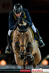 John Whitaker of United Kingdom riding Lord of Arabia competes at the Longines Speed Challenge during the Longines Hong Kong Masters 2015 at the AsiaWorld Expo on 13 February 2015 in Hong Kong, China. Photo by Juan Flor / Power Sport Images