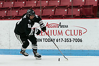 BOSTON, MA - JANUARY 11: Ciara Barone #16 of Providence College brings the puck forward during a game between Providence College and Boston University at Walter Brown Arena on January 11, 2020 in Boston, Massachusetts.