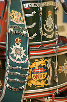 Details of the Regiment des Voltigeurs de Quebec' colours, saved by Captain Stephane Dery during the fire at the Manege Militaire de Quebec on April 4 2008.