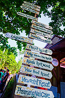 directions sign, Railay, Krabi Province, Thailand