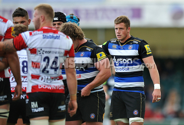 Matt Bolwell of Bath Rugby looks on. West Country Challenge Cup match, between Gloucester Rugby and Bath Rugby on September 13, 2015 at the Memorial Stadium in Bristol, England. Photo by: Patrick Khachfe / Onside Images