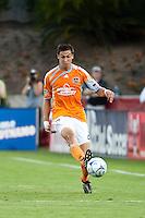 Houston Dynamo defender Geoff Cameron (20) controls the ball.  Houston Dynamo defeated CD Chivas USA 1-0 at Robertson Stadium in Houston, TX on June 10, 2009.