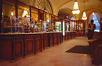 The famous Gerbeaud café in Budapest, well known for its patisseries. founded in 1858