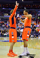 The Syracuse players during introduction prior to tip-off during the NCAA East Regional Final at the Verizon Center in Washington, D.C. on Saturday, March 30, 2013. Alan P. Santos/DC Sports Box