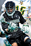 3 April 2010: Binghamton University Bearcats' Midfielder David Raleigh, a Junior from Norwalk, CT, in action against the University of Vermont Catamounts at Moulton Winder Field in Burlington, Vermont. The Catamounts defeated the visiting Bearcats 11-8 in Vermont's opening home game of the 2010 season. Mandatory Credit: Ed Wolfstein Photo
