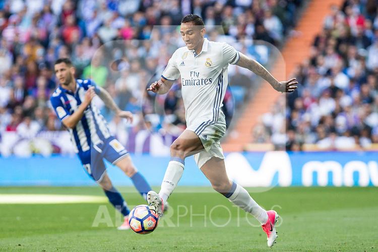 Danilo Luiz da Silva of Real Madrid during the match of  La Liga between Real Madrid and Deportivo Alaves at Bernabeu Stadium Stadium  in Madrid, Spain. April 02, 2017. (ALTERPHOTOS / Rodrigo Jimenez)
