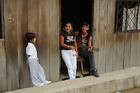 A friendly family. They all were in Mindo, Ecuador.