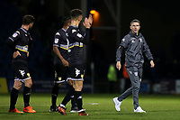 Bury Caretaker Manager, Ryan Lowe, walks towards the dressing room at the final whistle as his players applaud the away fans during Gillingham vs Bury, Sky Bet EFL League 1 Football at the MEMS Priestfield Stadium on 11th November 2017