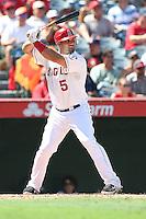 09/13/12 Anaheim, CA: Los Angeles Angels first baseman Albert Pujols #5 during an MLB game played between the oakland Athletics and Los Angeles Angels at Angel Stadium. The Angels defeated the A's 6-0.